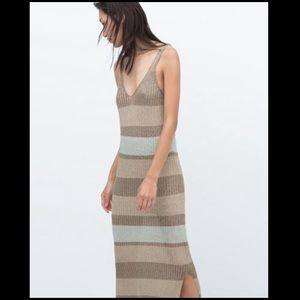 Zara Italian Yarn Maxi Dress